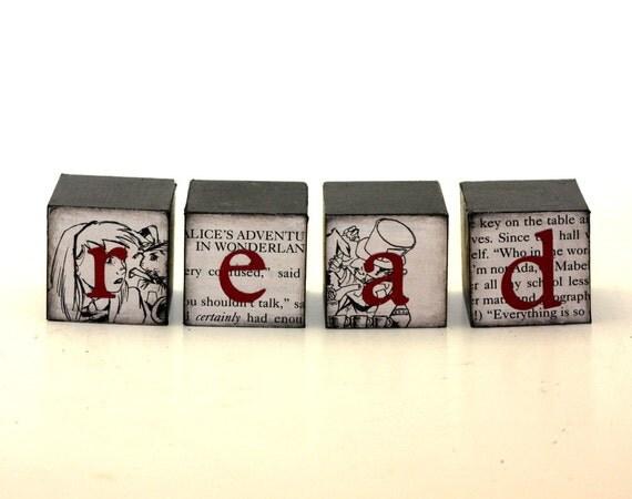 Read Alice in Wonderland Blocks Black, White and Red