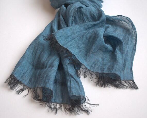 Long scarf women men Linen Cotton Scarf
