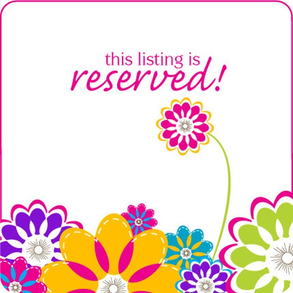 RESERVED LISTING for  Kristen Welch
