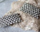 vintage. MUSI rhinestone. shoe dress clips. set pair. fancy. hollywood regency.