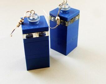 LEGO Tardis earrings