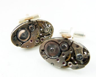 Oval Steampunk Cufflinks