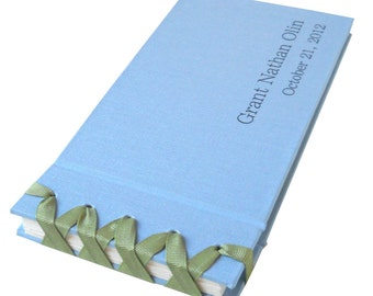 personalized grosgrain ribbon photo album (4x6) - 24 photos
