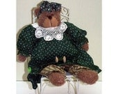Gretchen Loves To Quilt Handmade Country Bear Doll