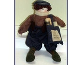 Jeremiah The Paper Boy Handmade Country Doll