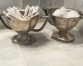 Vintage Shabby Chic Silve...