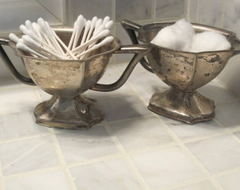 Vintage Shabby Chic Silver Plated Cream and Sugar Set