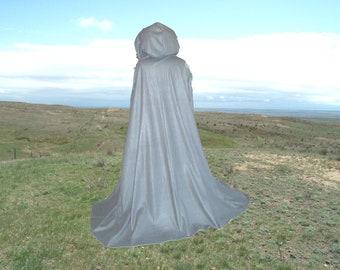 Cloak - Cape- Medieval -Renaissance -Vampire -Halloween -Costume -Medium Grey Fleece - Harry Potter