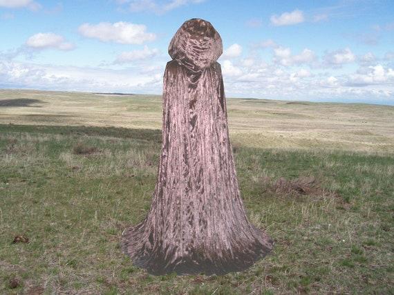 Cloak - Brown Crinkle Velvet- Costume - Fantasy Cape - Halloween Costume