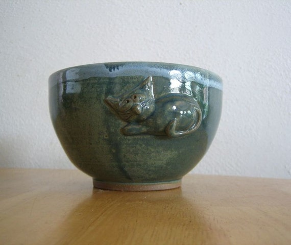Purrrrrfect Blue Cat  - 14 oz Bowl