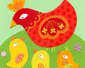 Shirley And Her Peeps Chicken Print 8.5 x 11