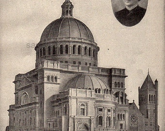 1908 Mary Baker G Eddy The First Church of Christ Scientist in Boston Christian Science Print