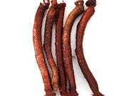 Silk carrier rods - hand dyed - dark brown, chocolate brown, mahogany, cinnamon
