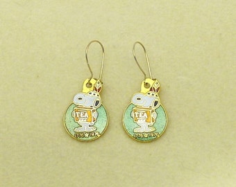 Aviva Vintage Snoopy Bicentennial TEA Earrings 0039