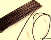 BOGO - 15ft Brown Satin Cord 1mm Bugtail Dark Brown - 5 yds - STR9066CD-DB15 - Buy 1, Get 1 Free - No coupon required