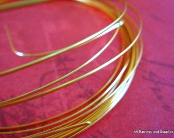 12 ft Gold Wire Half Round 18 Gauge Soft Tempered Non Tarnish Gold Plated - 12 ft - STR9064WR-HRG12