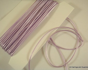 BOGO - 15ft Light Lavender Polyester Cord 1mm Braided Bugtail - 5 yds - STR9066CD-L15 - Buy 1, Get 1 Free - No coupon required
