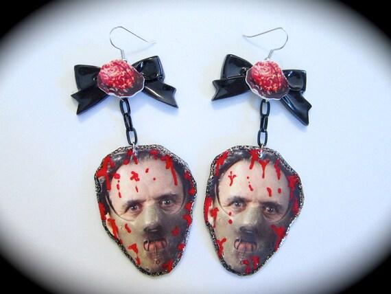 Hannibal Lecter Dangle Earrings
