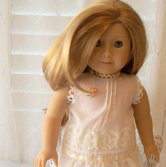 American Girl Doll Clothes - Delicate, Ecru Night Gown fits American Girl Doll or 18 inch doll