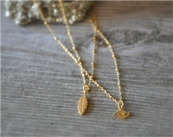 gold feather necklace gold feather charm 24k gold dipped feather jewelry stocking stuffer gift for her fall fashion feather pendant tribal