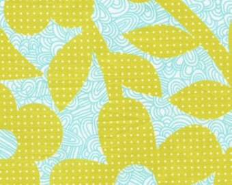Erin McMorris Weekends Dots and Lines Lime Fabric By the Yard, 1 yard