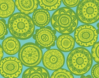 Erin McMorris Summersault Cartwheel Lime Sewing Fabric By the Yard, 1 yard
