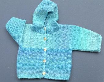 Blue Shimmer Baby Jacket