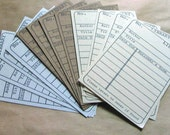 Library Cards - Set of 12
