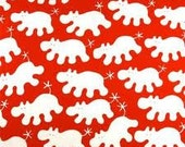 One Yard Ikea Red Hippos by Eva Lundgreen