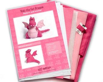 Yoki the Dragon KIT - Pink