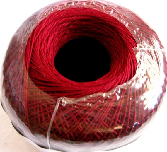 Aunt Lydias Classic Crochet Cotton Thread, BURGUNDY wine, size 10