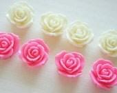 8 pcs Glossy Rose Cabochons (20mm22mm)  B Set FL296