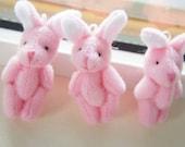 2 pcs Bunny Doll Charm (45-50mm) Pink DO063