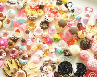 20 pcs Assorted Pack of Sweets Cabochons (Starter Set )