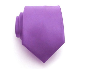 Purple Lavender Mens Ties Necktie With *FREE* Matching Pocket Square Easter Lavender Silk Tie Pocket Square Set