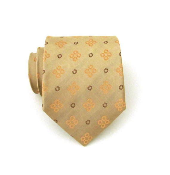 mens tie dusty gold and taupe silk necktie