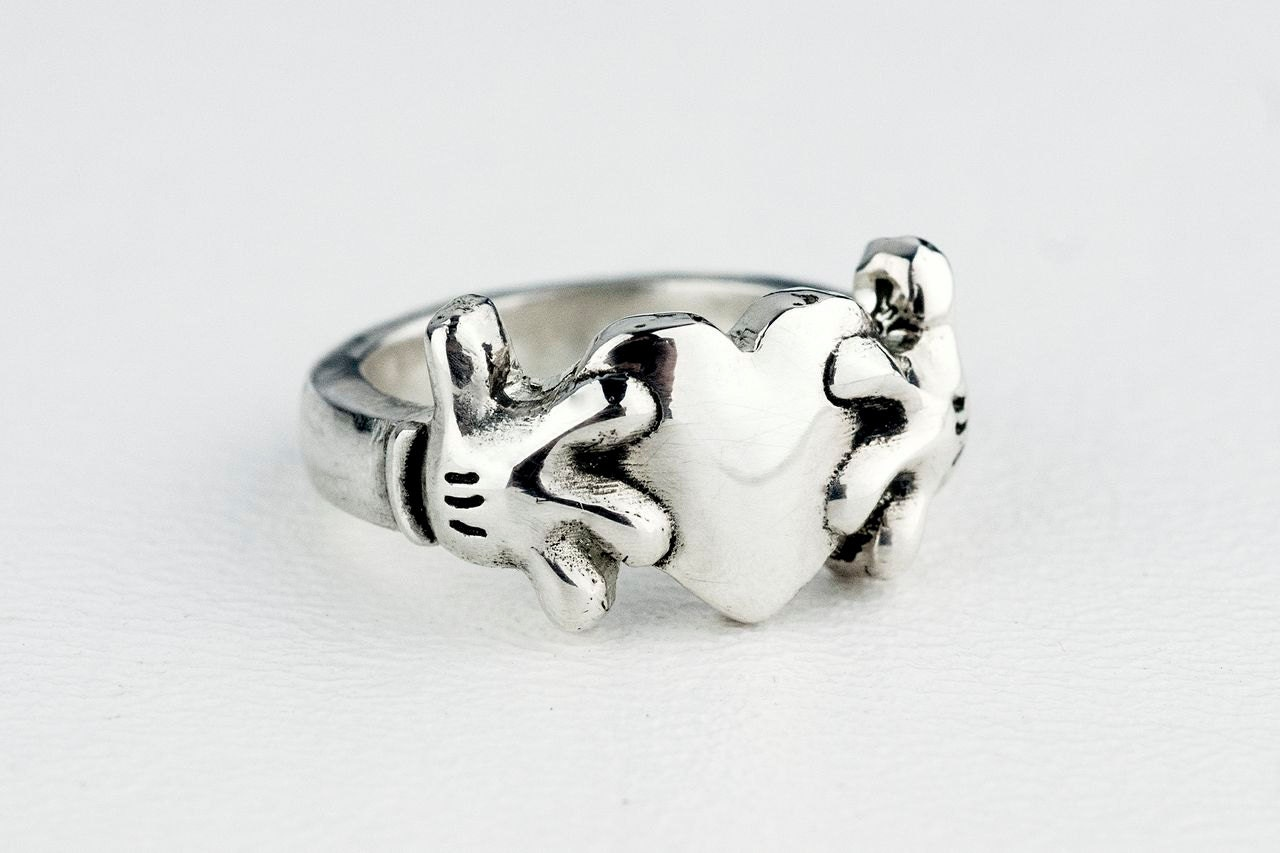 claddagh ring wedding band sterling silver band