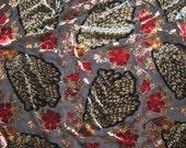 PEACOCKS - Burnout Silk Velvet Fabric - fat 1/4