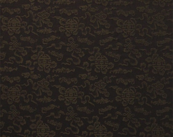 Chocolate Medallions - Double Sided Silk Brocade Fabric - 1/2 Yard