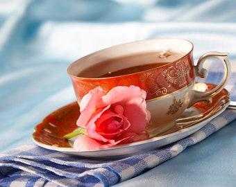 Tea Teabags 25 Rose green Hand Blended tea in tea bags floral