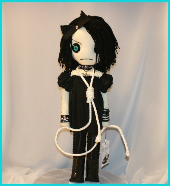OOAK Hand Stitched Sad Rag Doll Creepy Gothic Folk Art By Jodi Cain