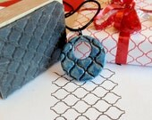 Moroccan Tile Background Texture Rubber Stamp - handmade by Blossom Stamps