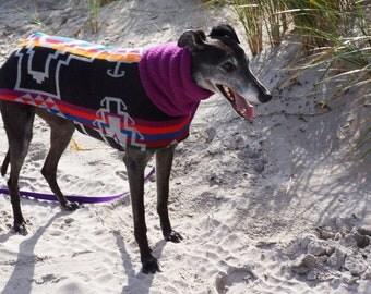 Greyhound/Other Large Dog Blanket Wool Coat - to be custom-sized, custom-made