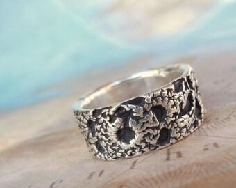 Crochet Jewelry, Crochet Ring, STERLING Silver Crochet Ring, STERLING Silver Crochet Jewelry, Crocheted Jewelry, Bohemian Crocheted Ring