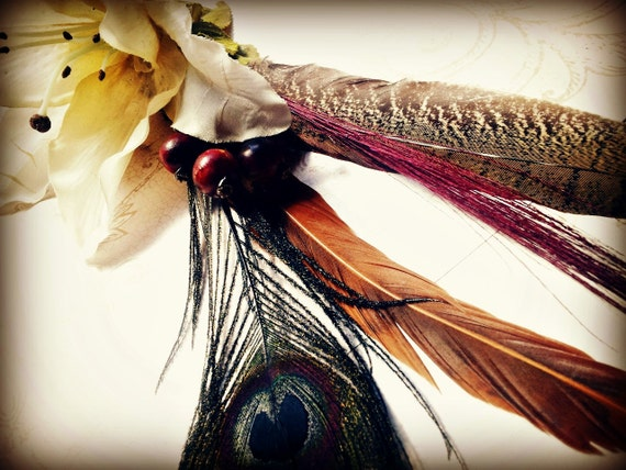 Lily Love - Tribal Belly Dance Costume Hair Clip - Shoulder Duster