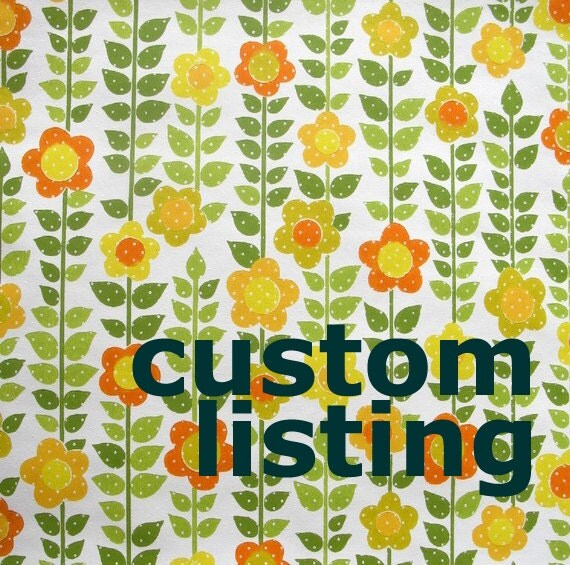 CUSTOM LISTINGfor SKRULLA - vintage wallpaper - sunny floral with dots - per half yard