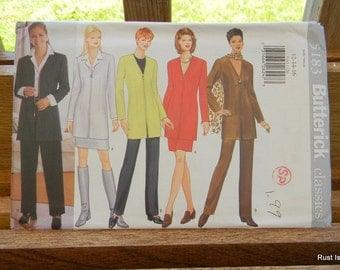 Butterick Misses Jacket, Skirt, Pants and Scarf Pattern N 5183 Uncut Multisized