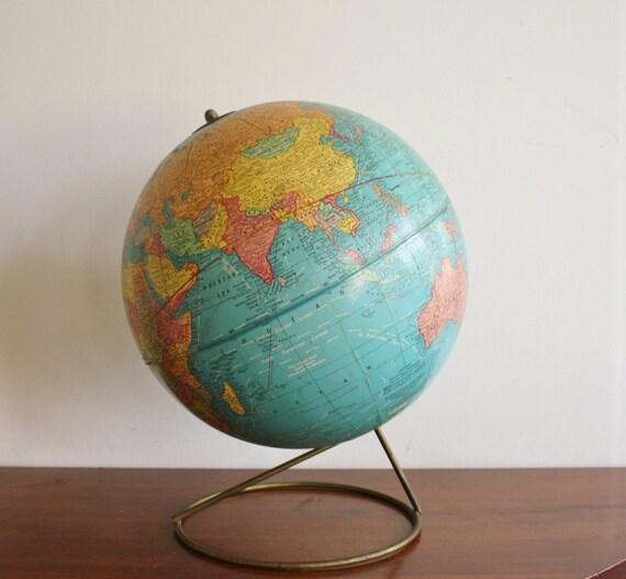 1960s globe with metal base