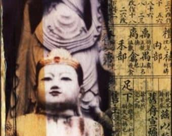 Buddha Temple of Peace 4x4 mini collage Polaroid Emulsion
