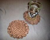 Two Walnut Organic Cotton Flower Coasters